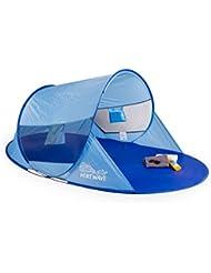 Arielle paraviento de playa pop up, portable, protección UV 60, azul