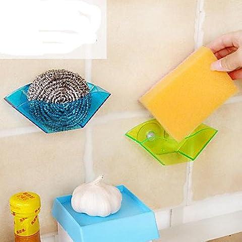 JSGN-ventosa lavandino telaio di scarico / multi-funzionale stand / spugna basamento (colore casuale)