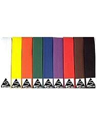 Spirit - Cinturón de artes marciales para adultos (280 cm), color blanco