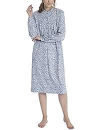 Calida Zweiteiliger Schlafanzug Soft Cotton Damen Pyjama mit Bündchen