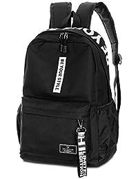 f85a4bc81191d SANMIO Schulrucksack Mädchen Schultaschen Canvas Rucksack Schultasche  Backpack Daypacks für Damen Herren geeignet für 15.6 Zoll…