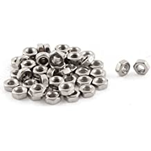 Hex Nut - TOOGOO(R) Metric M3x0.5mm Stainless Steel Finished Hex Nut Silver Tone 50pcs