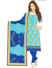 b31fbad9b5 Ventcub Women's/Girls Cotton Zari Work Unstitched Salwar Suit Dress Material