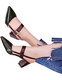 QinMM Zapatos de Boca Baja Zapatos de Tacones Altos de Oficina para Mujeres Sandalias de Vestir