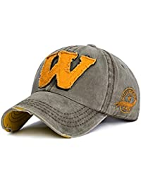 5a413cc2ea01 DWSAQ Casquette de Baseball, Chapeaux Ajustables Unisexe de la Lettre W  Snapback Cap été