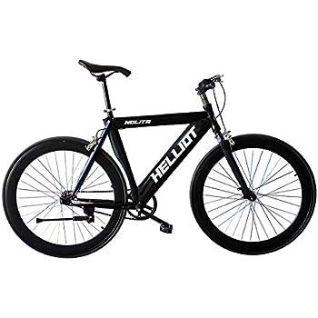 Helliot Bikes Fixie Nolita 50, Ruedas de 28 Pulgadas, Llantas de Aluminio, Cubiertas