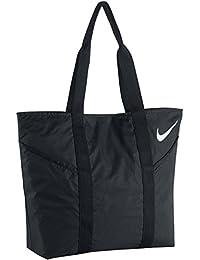 Nike Azeda Tote Bolsa, Mujer, Negro / Blanco (Black / Black / White), Talla Única