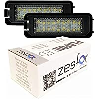 Zesfor Luces de matrícula LED para Seat Altea XL y Freetrack (2007-actualidad)