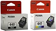 Canon 440 Black 441 Tricolor Ink Cartridges