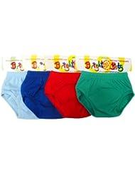 Bright Bots - Calzoncillos lavables para cuando los niños aprenden a ir al baño, 4 unidades, extragrandes, con forro de poliuretano, para niños de aproximadamente 2 - 3 años