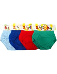 Bright Bots Washable Potty Training Pants Culotte d'apprentissage 4pk Extra Large with PUL Lining - Garcon (approx 2-3yr)