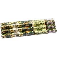 Luxflair Premium Räucherstäbchen Eukalyptus, XL Set mit 10 Packungen á 8 Räucherstäbchen (80 Stück), lange Brenndauer... preisvergleich bei billige-tabletten.eu