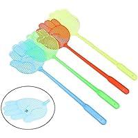 2x Chytaii Matamoscas de Plástico Alargar el Mango Juego de 2 Matamoscas con Forma de Mano Matamoscas de Mano Moscas Beat Color Aleatorio