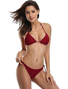 SHEKINI Sexy Halterneck Triangolo brasiliana Bikini donna Push-Up Costumi da bagno donna Due Pezzi Beachwear Donna...