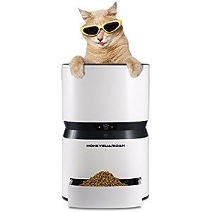 HoneyGuaridan S25 Smart automatischer Futterautomat, Programmierbare Portionen, Futterspender mit einfacher iOS und Android App Control - für Hunde und Katzen konzipiert