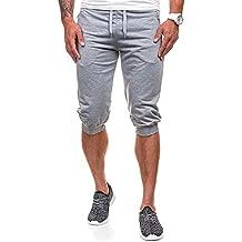 Hombre de Algodón Pantalones Cortos Gimnasio Sport Jogging Pantalones