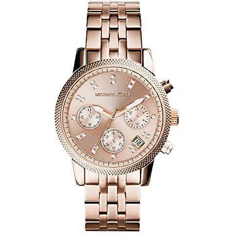 Michael Kors MK6077 - Reloj de cuarzo con correa de acero inoxidable para mujer, color rosa