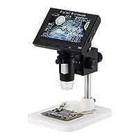 مجهر Elikliv LCD الرقمي ، Elikliv 4. 3 بوصة HD 1080P المحمول ، عدسة كاميرا مكبر 500X/1000X ، مسجل فيديو 0MP مع بطاقة تخزين 32 جيجا ، 8 مصابيح LED قابلة للتعديل
