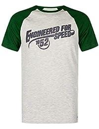 Kawasaki Camiseta Hombre Engineered para Speed Verde/Gris