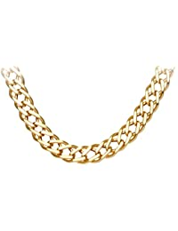 Citerna Unisex 9 ct Yellow Gold Chunky Double Curb Necklace Chain