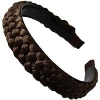 PRETTYSHOP Deely coleta trenzada, peluca, venda del pelo, joyas de cabeza, accesorios para el cabello de color marrón claro # 12 HR8