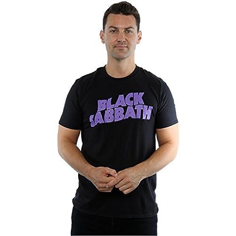 Black Sabbath hombre Wavy Logo Camiseta