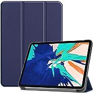 جراب FanTing لجهاز iPad pro 12.9 2020 Tablet رفيع للغاية خفيف الوزن غطاء حامل أنيق وحافظة جلدية من البولي يوري
