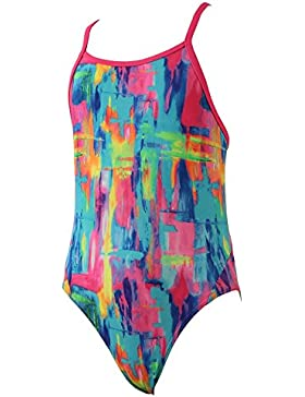 Funkita Girls Impressionista Diamond Back One Piece, Blue, 12 anni