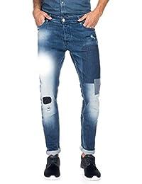 Salsa - Jeans Slender avec déchirures et empiècements - Homme