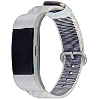 Hunpta@ Uhrenarmband Fitbit Charge 2 Nylon Weben Band Handschlaufe Royal Woven Armband Band