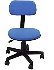 GreenForest Silla de escritorio sillas giratorias ajustables azules joven