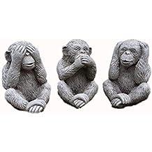 Piedra Wise Monkeys de mono decoraciones de jardín juego ...