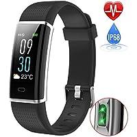 Control de actividad - pulsera conectada - LENOVO - Smart OLED de pantalla táctil - Sport Fitness Tracker - podómetro, calorías, el sueño, la salud, el ritmo cardíaco ... - Bluetooth v4.0 - Compatible con el iPhone y Android smartphone - Negro