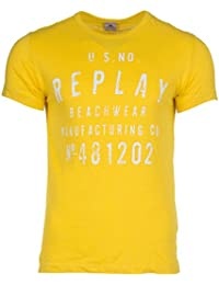 Replay Men's T-Shirt with Button Placket