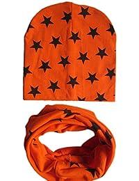 Koly Muchachas de los bebés infantil para niños de la bufanda pañuelo Niño Sombreros Sombreros gorra (Naranja)