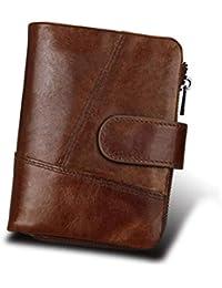 9d361907d5 Portafoglio porta carte uomo Portafoglio per uomo RFID Blocking Portafoglio  Pochette in pelle marrone di alta