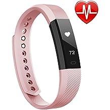 Fitness armband Lintelek Fitness Tracker Uhr mit Herzfrequenzmesser, schlanke Touchscreen und Armbänder, Tragbar Wasserdichte Aktivität Tracker Schrittzähler fitness uhr