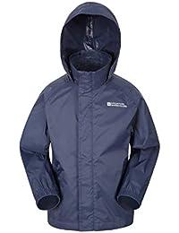 Mountain Warehouse Pakka Kids Waterproof Jacket - 2 Pockets Childrens Jacket, Breathable, Water Repellent, Packable Rain Jacket, Wind Resistant - Ideal for Hiking