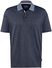 MAERZ Herren Poloshirt blau mit Knopfleiste und Brusttasche 651201-399