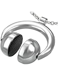 Cored E9 Unisex 'Hip Hop DJ Headphones' Pendant Stainless Steel without Chain