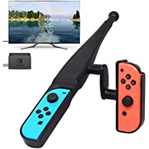 Fyoung Fishing Rod for Nintendo Switch Joy-Con New Game, Fishing Bass Kit for Switch Joy Cons Controller Bass Pro Shops - The Strike Bundle