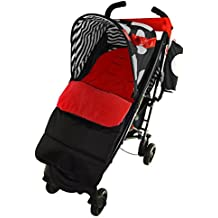 Saco/Cosy Toes Compatible con Maclaren Quest deporte para carrito, color rojo