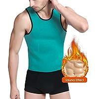 FF Health Los Hombres Caliente Chaleco de Sudor | Chaleco de Sauna de Neopreno - Grandioso para Pérdida de Peso/Quemador de Grasa (Verde, XXXL)