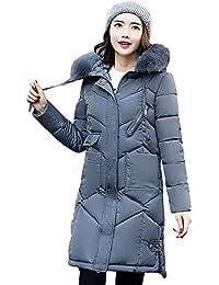 POLP Abrigos mujer Abrigo Acolchado Impermeable Invierno Ultra-Caliente con Capucha Mujer Invierno Parka Largo