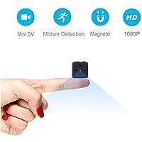 Mini Telecamera Spia Nascosta,MHDYT Full HD 1080P Portatile Micro Spy Cam Sorveglianza con Visione Notturna,Sensore di Movimento y Batteria,Senza Fili Piccola Microcamere Spia per Esterno/Interno