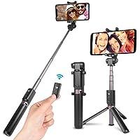 Power Theory Bluetooth Selfie Stick mit Handy Stativ und Fernauslöser - Selfiestick für Samsung Galaxy S9 S9+ S8 S7 Edge S6, iPhone XS Max X 8 7 Plus 6s 6 und alle Smartphones - Selfi Halter Monopod