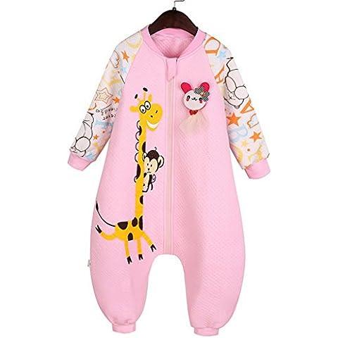 Happy Cherry Saco de Dormir de Mangas Largas Pijama de Dibujos Animados Bolsa de Dormir Mono Sleeping Bag para Bebés Niños Niñas