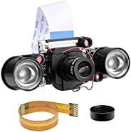 وحدة كاميرا Longruner لكاميرا Raspberry PI, رؤية ليلية / نهارية / مقطوعة بالأشعة تحت الحمراء, 5MP 1080p OV5647