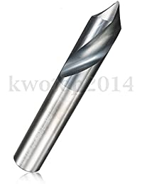 "Tradico® 3/8"" 2 Flute 90 Degree Tungsten Steel Carbide Chamfer Mill Cutter Cutting Tool"