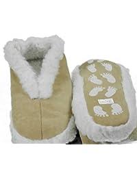 BOOM IT - Zapatillas de estar por casa de cuero para hombre